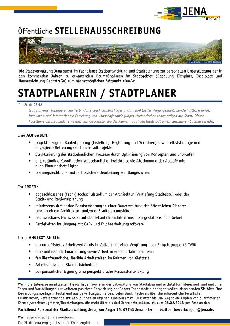 Stadtplanerin / Stadtplaner