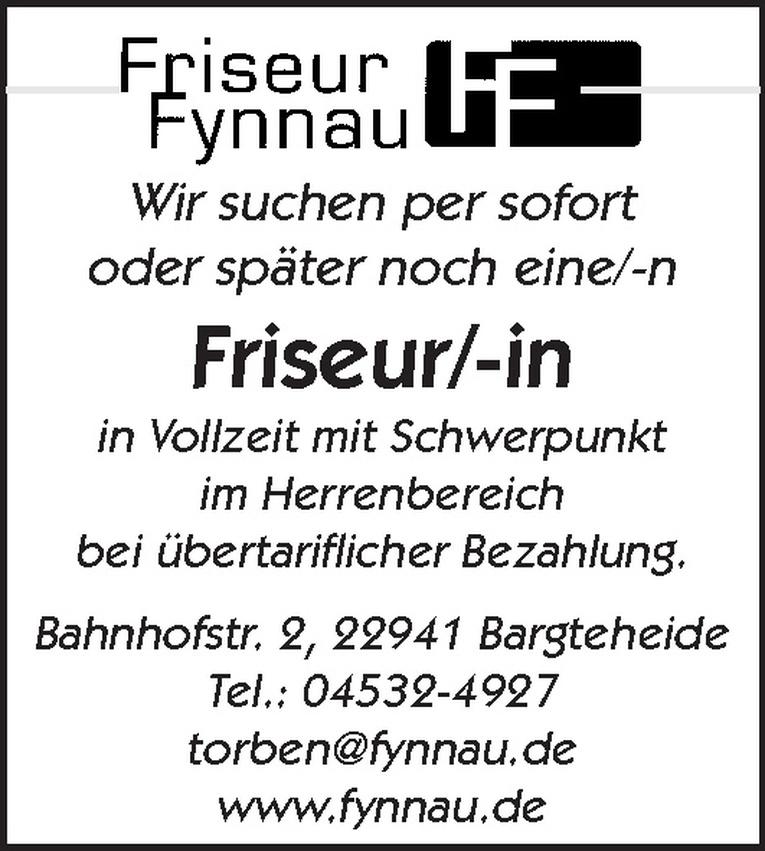 Friseur/-in