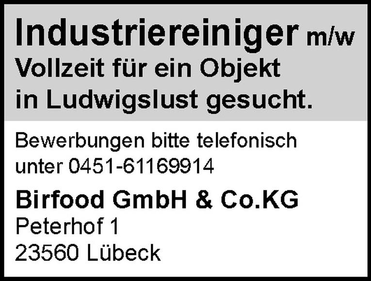 Industriereiniger m/w