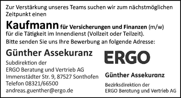 Job Kaufmann Fur Versicherungen Und Finanzen M W