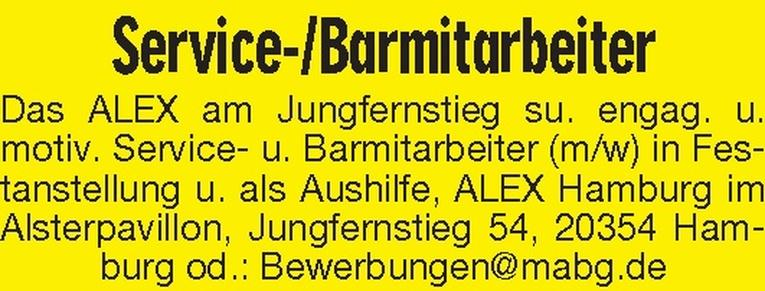 Service-/Barmitarbeiter (m/w)