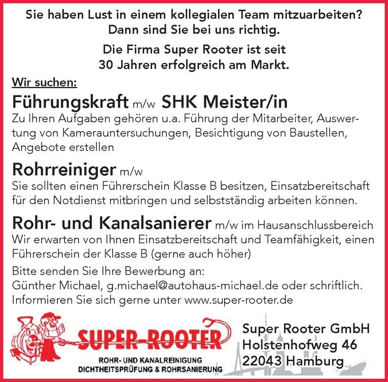 Rohrreiniger m/w