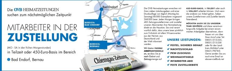 Mitarbeiter in der Zustellung für den Bezirk Bad Endorf, Bernau
