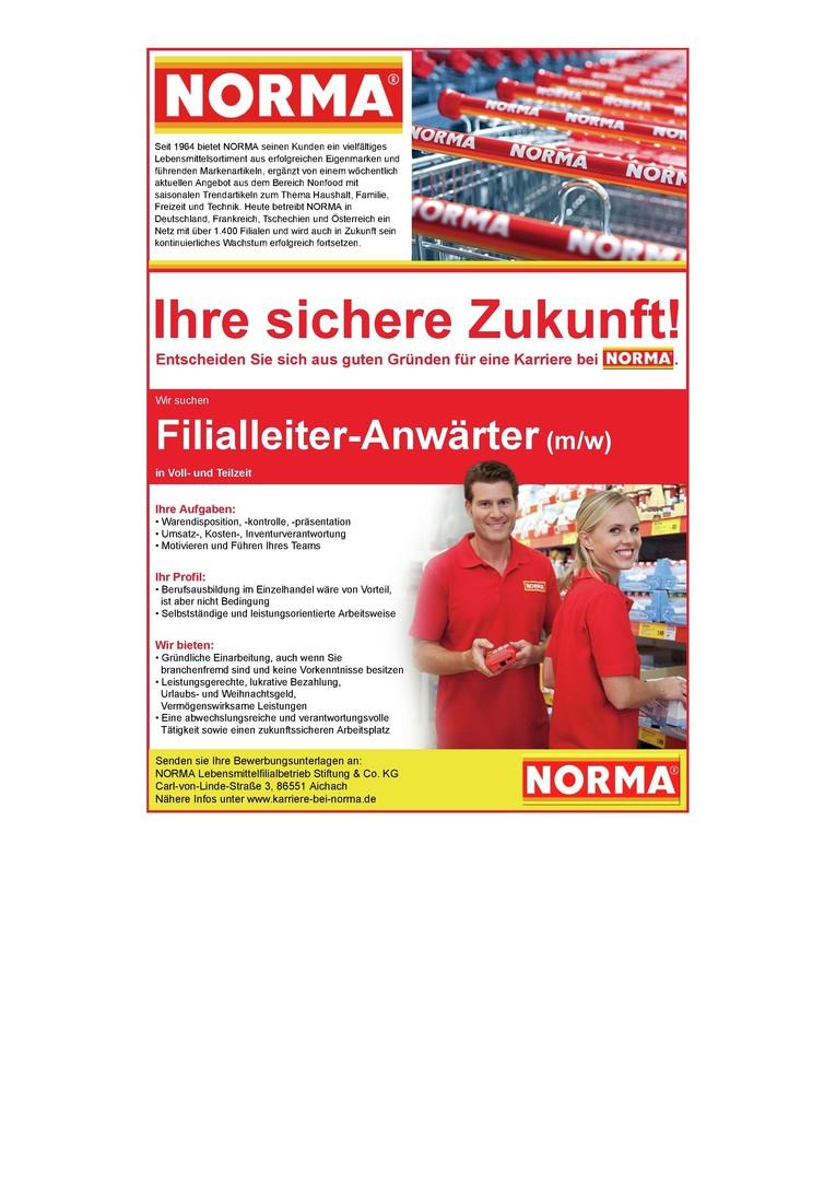 Filialleiter-Anwärter/in