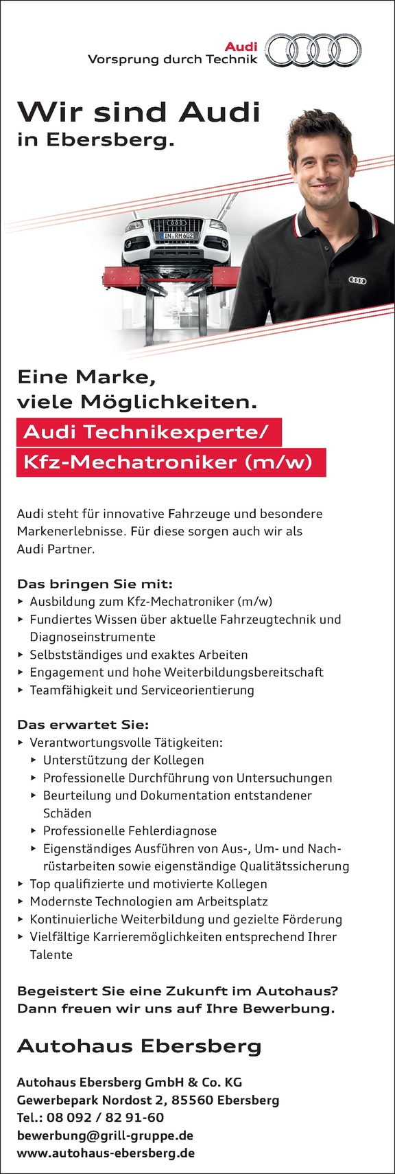 Kfz-Mechaniker / Mechatroniker / Audi Technikexperte (m/w)