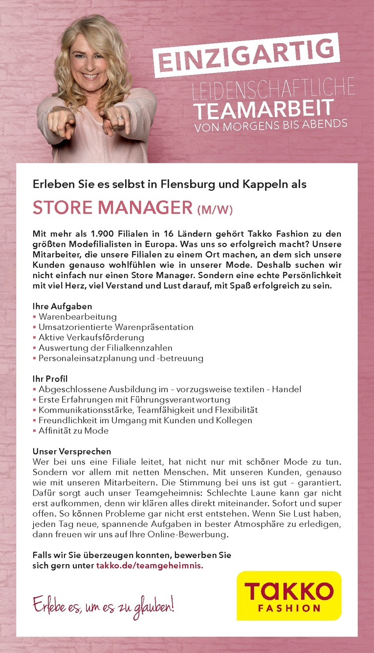 STORE MANAGER (M/W)