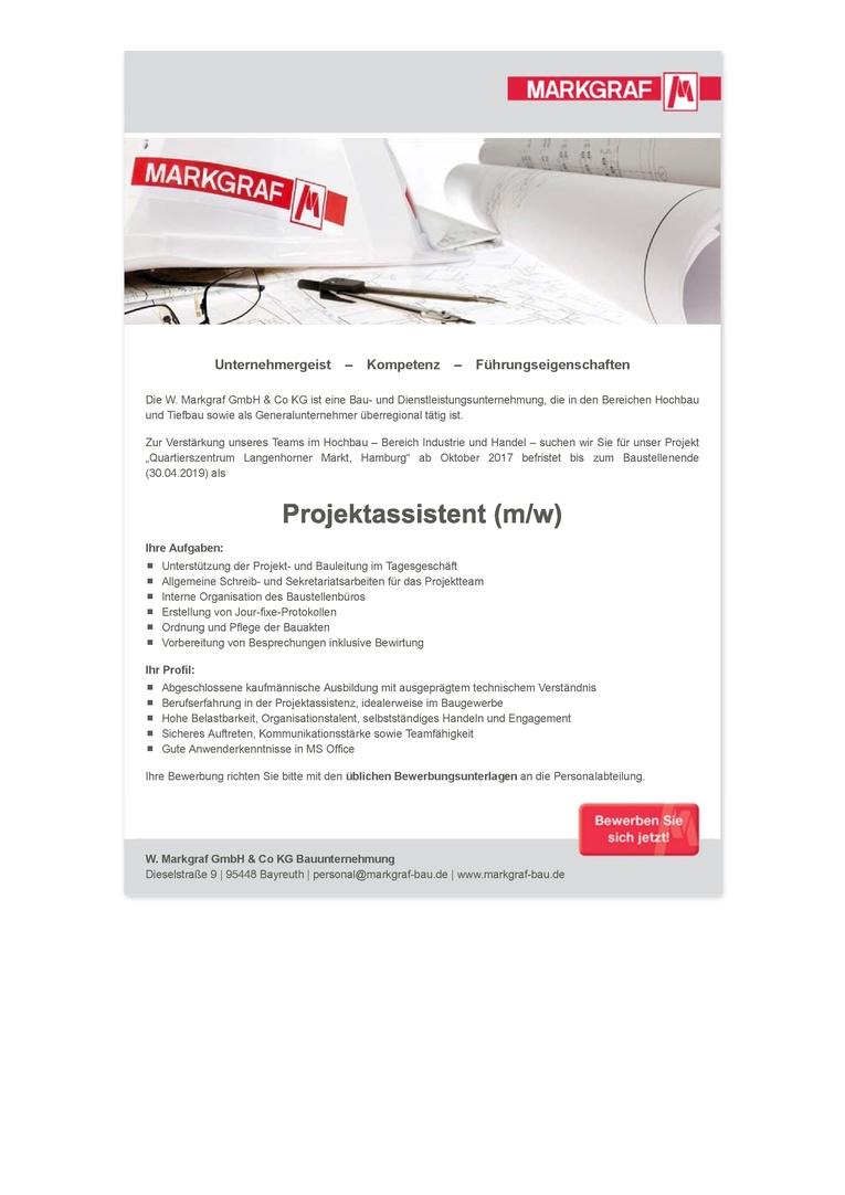 Projektassistent (m/w)