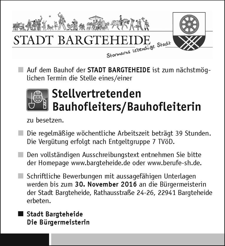 Stellvertretenden Bauhofleiters/Bauhofleiterin