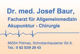 Dr. med. Josef Baur, Facharzt für Allgemeinmedizin