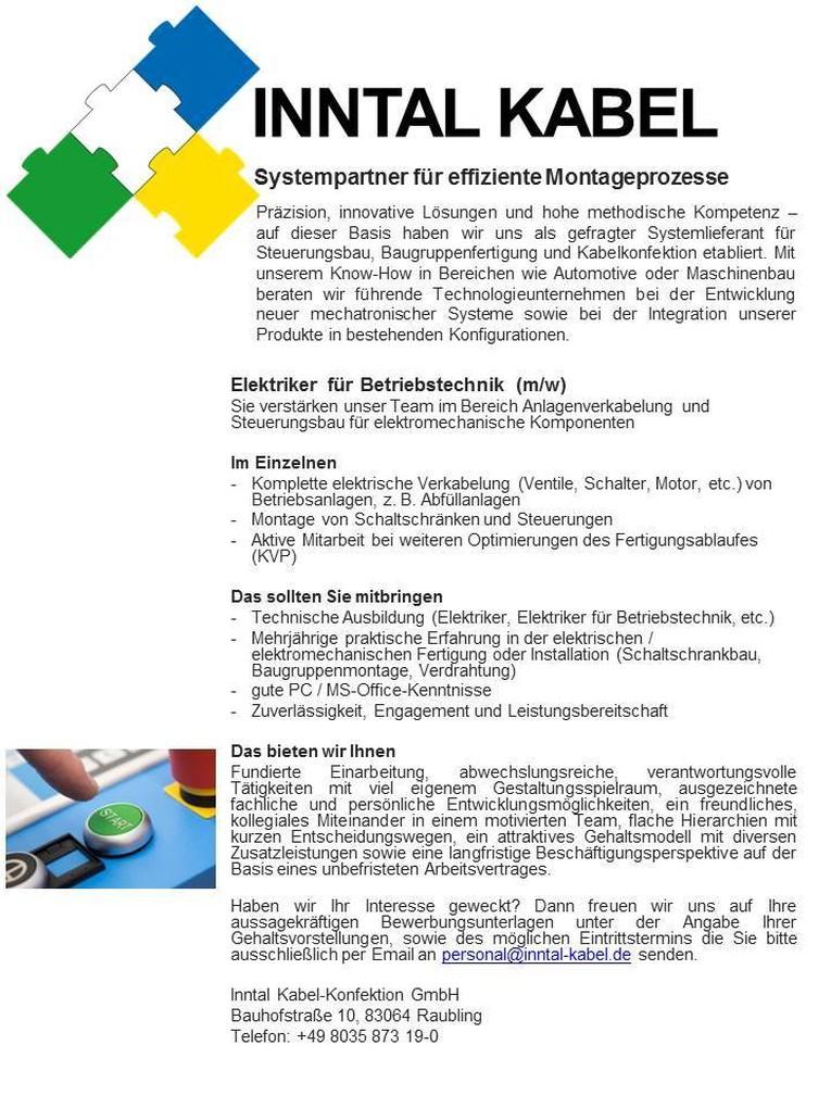 Job: Elektroniker für Betriebs- /Anlagentechnik (m / w)
