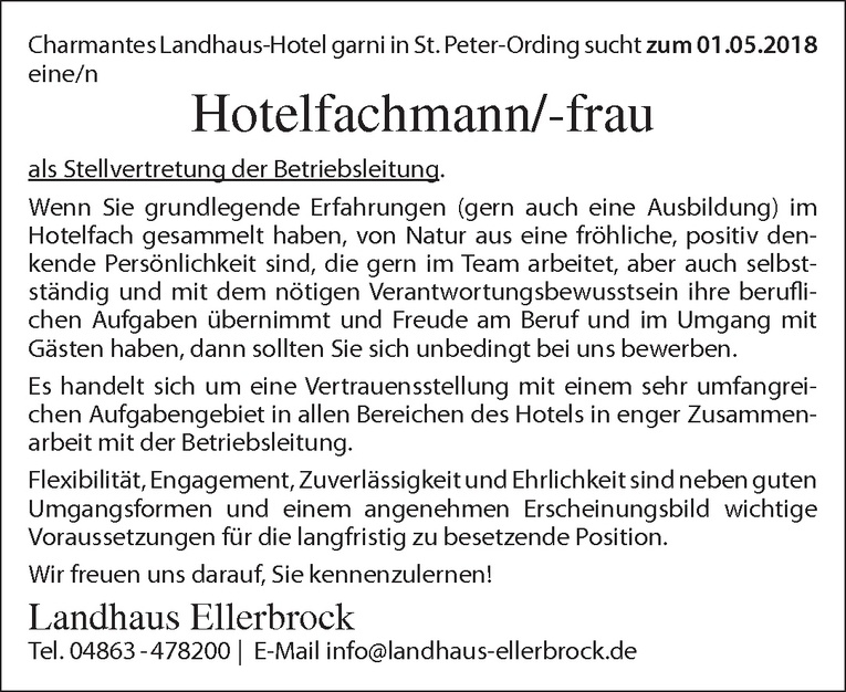Hotelfachmann/-frau