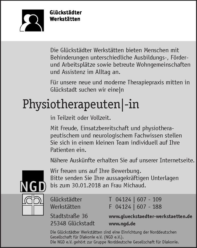 Physiotherapeuten/-in