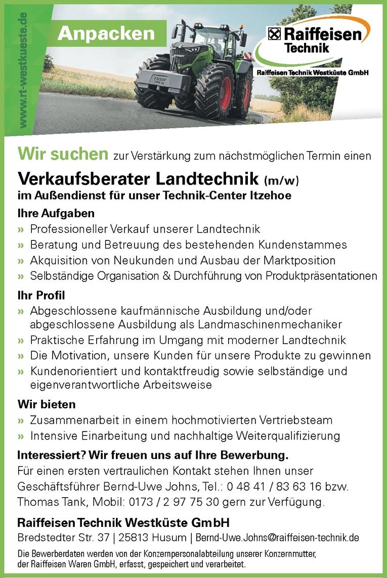 Verkaufsberater Landtechnik (m/w)