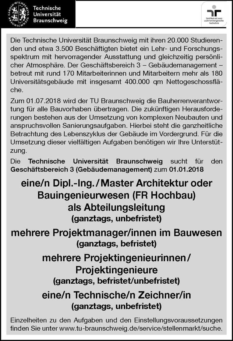 Projektmanager im Bauwesen (m/w)