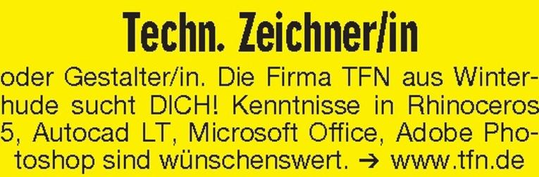 Techn. Zeichner/in