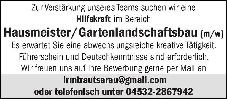 Hausmeister/Gartenlandschaftsbau (m/w)