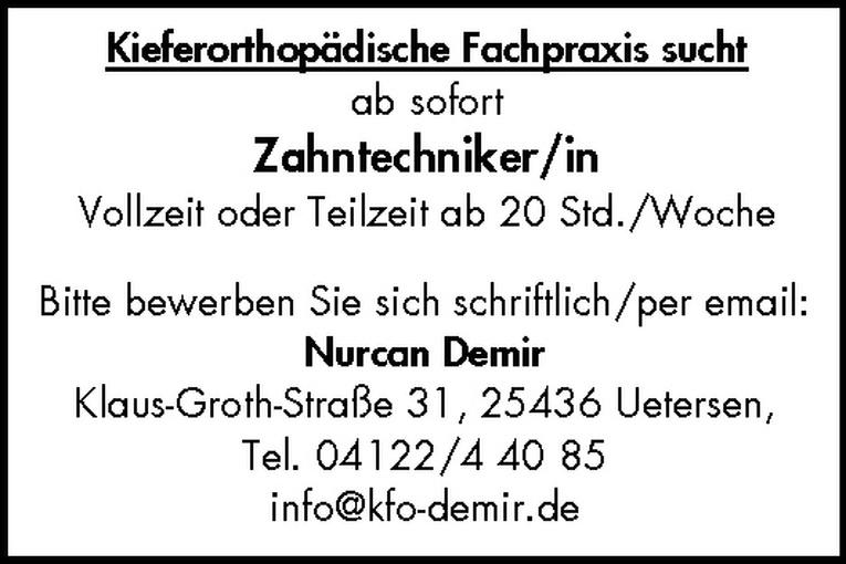 Zahntechniker/in