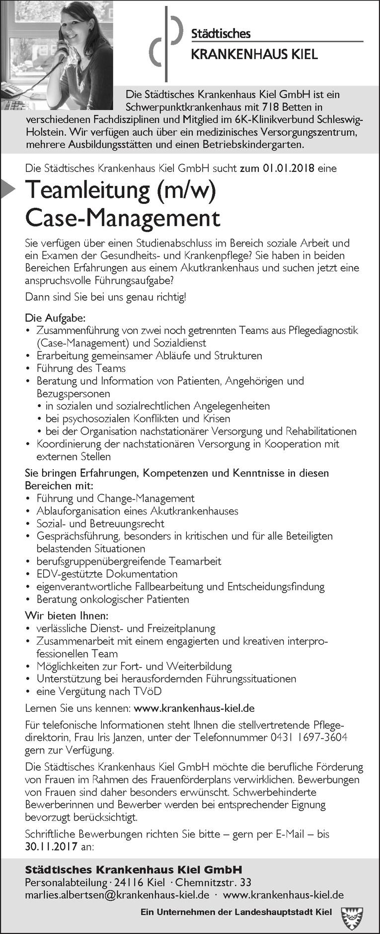 Teamleitung (m/w) Case-Management