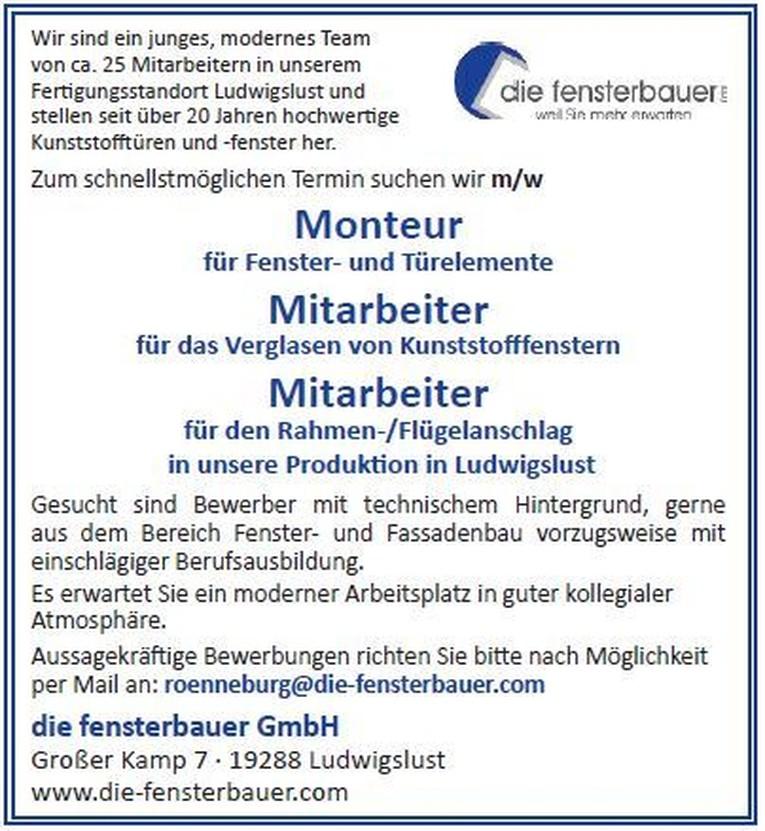 Monteur / Mitarbeiter m/w