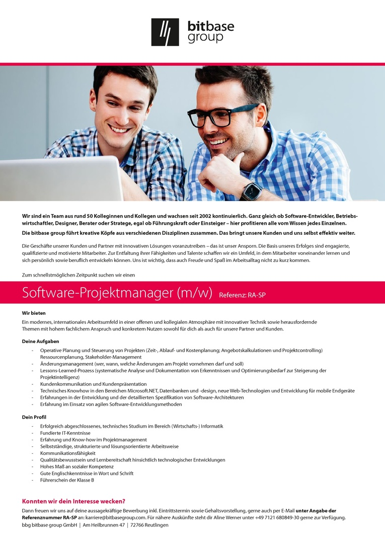 Software-Projektmanager (m/w)