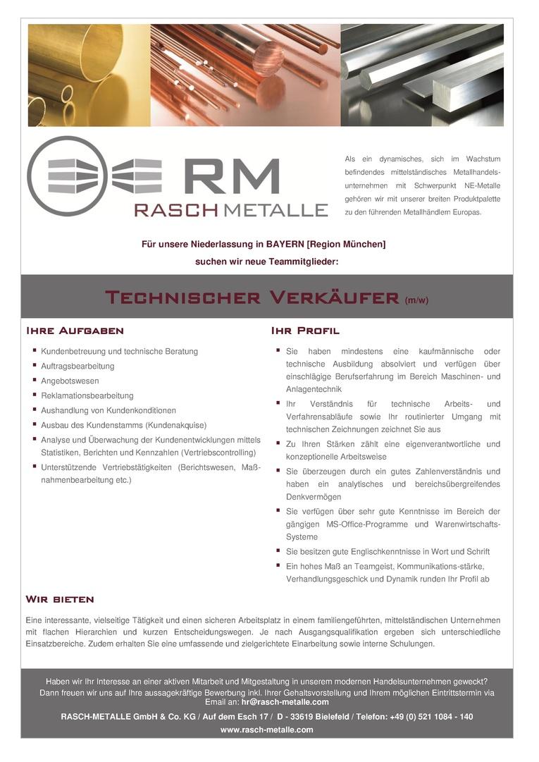 Technischer Verkäufer (m/w)