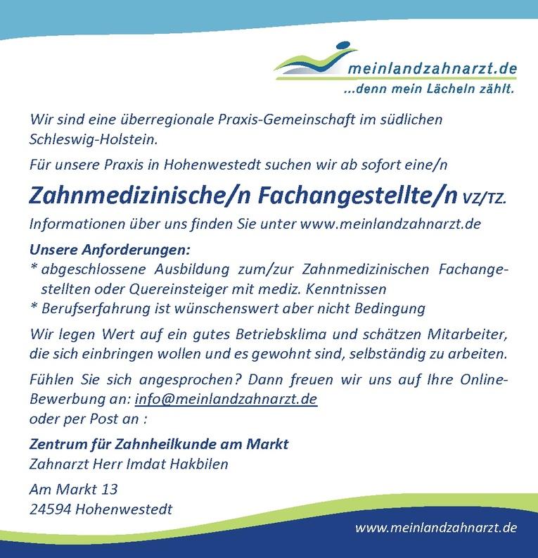 Zahnmedizinische/n Fachangestellte/n