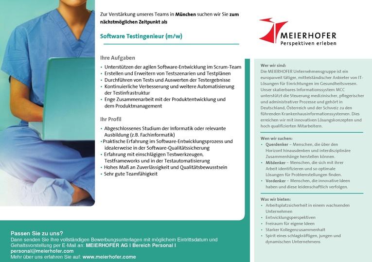 Software Testingenieur Healthcare-IT (m/w)
