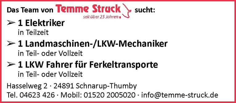 Landmaschinen ­ / LKW­-Mechaniker