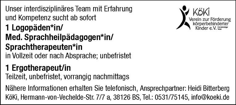 Logopäden / Med. Sprachheilpädagogen / Sprachtherapeuten (m/w)