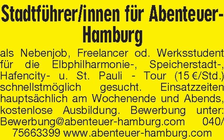 Stadtführer/innen für Abenteuer-Hamburg