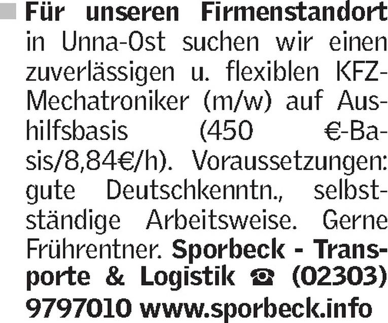 KFZ- Mechatroniker (m/w)