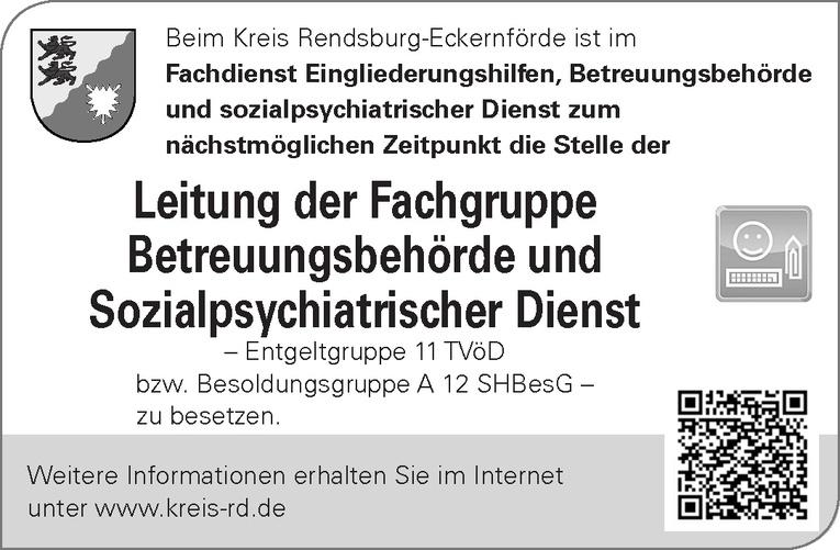 Leitung der Fachgruppe Betreuungsbehörde und Sozialpsychiatrischer Dienst