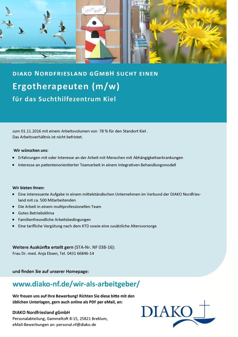 Ergotherapeut (w/m) für das Suchthilfezentrum