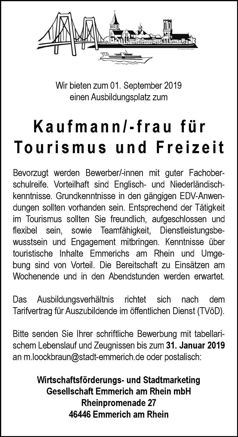 Job Ausbildung Kaufmann Frau Für Tourismus Und Freizeit