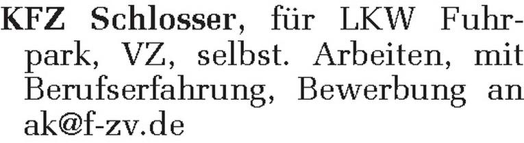 KFZ Schlosser (m/w)