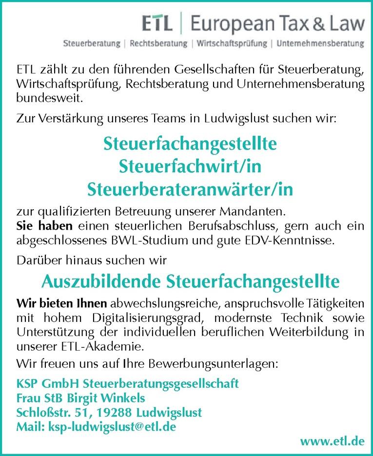 Steuerfachwirt/in