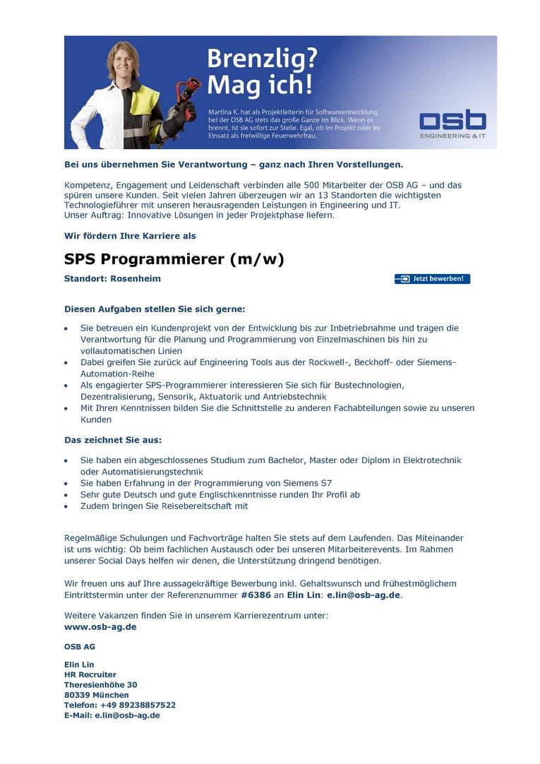 SPS Programmierer (m/w)