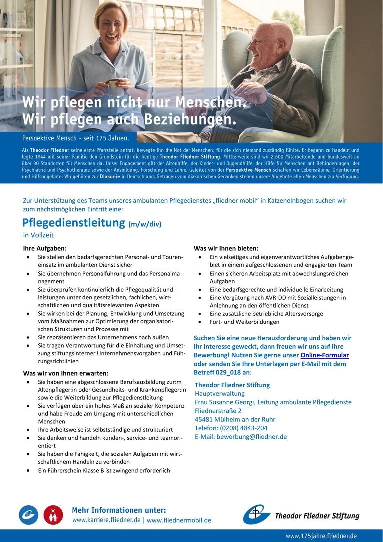 Job Pflegedienstleitung m/w/div   JOBSNRW.de