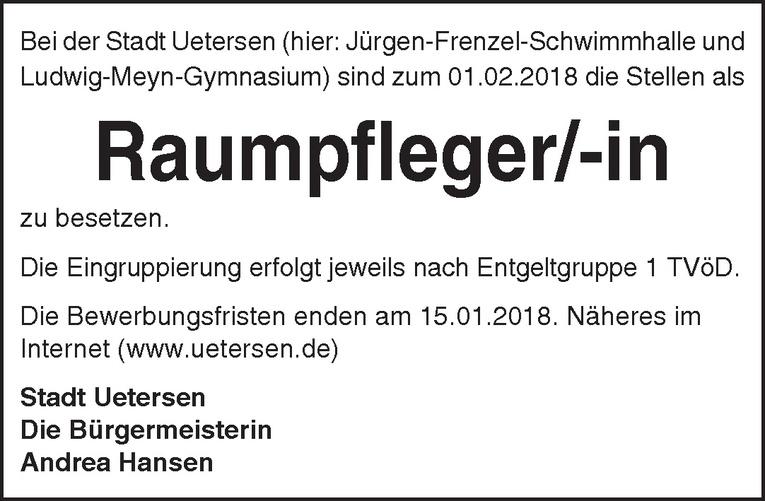 Raumpfleger/-in