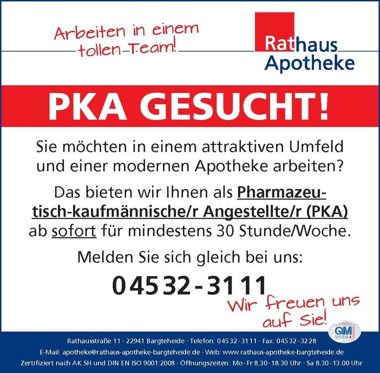 Pharmazeutisch-kaufmännische/r Angestellte/r (PKA)