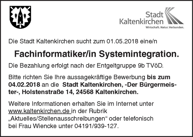 Fachinformatiker/in Systemintegration