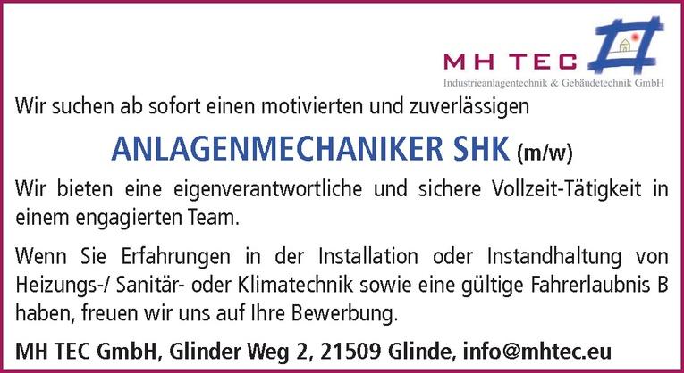Anlagenmechaniker (m/w) SHK