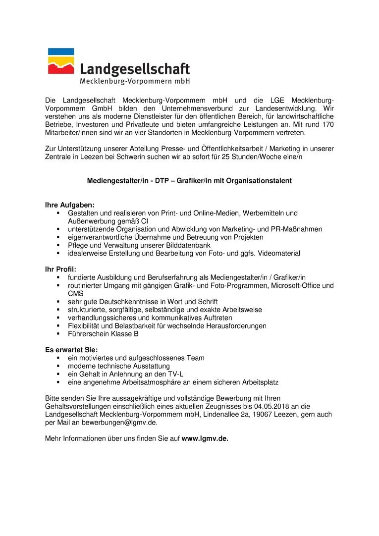 Mediengestalter/in - DTP - Grafiker/in mit Organisationstalent