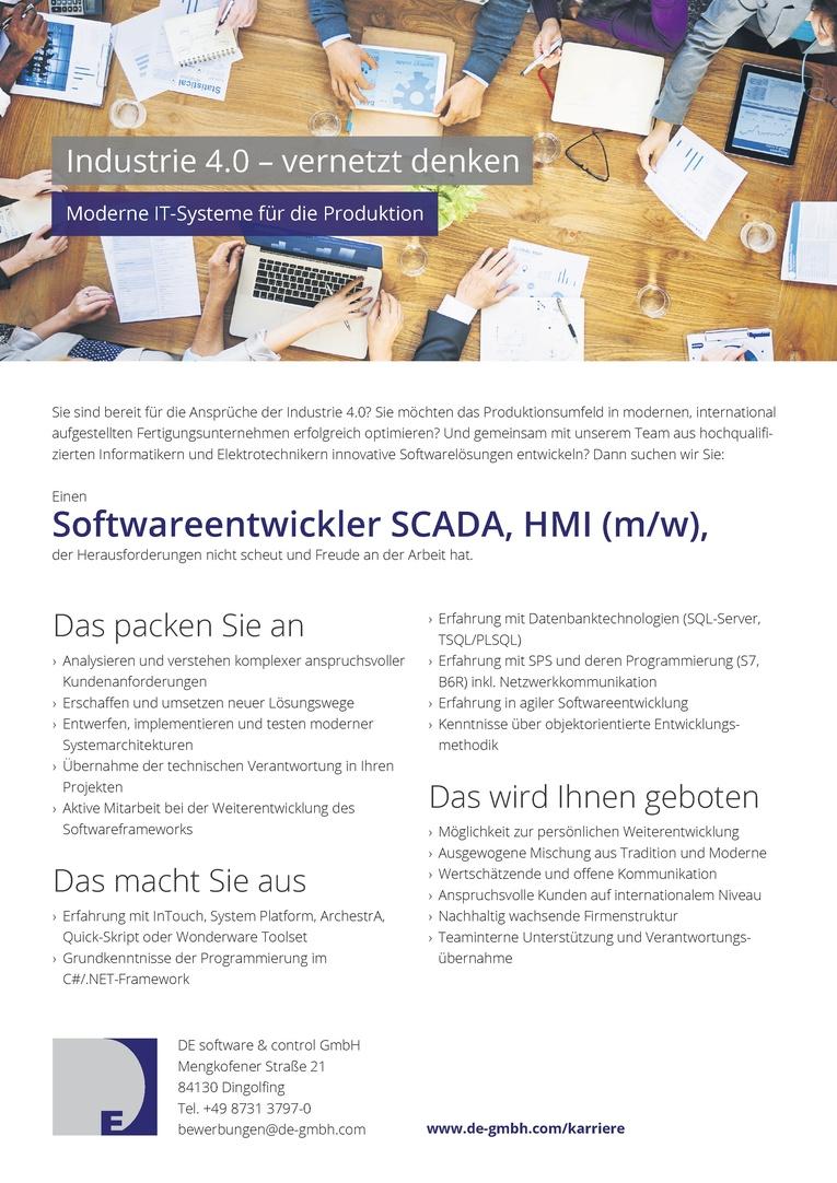 Softwareentwickler SCADA, HMI (m/w)