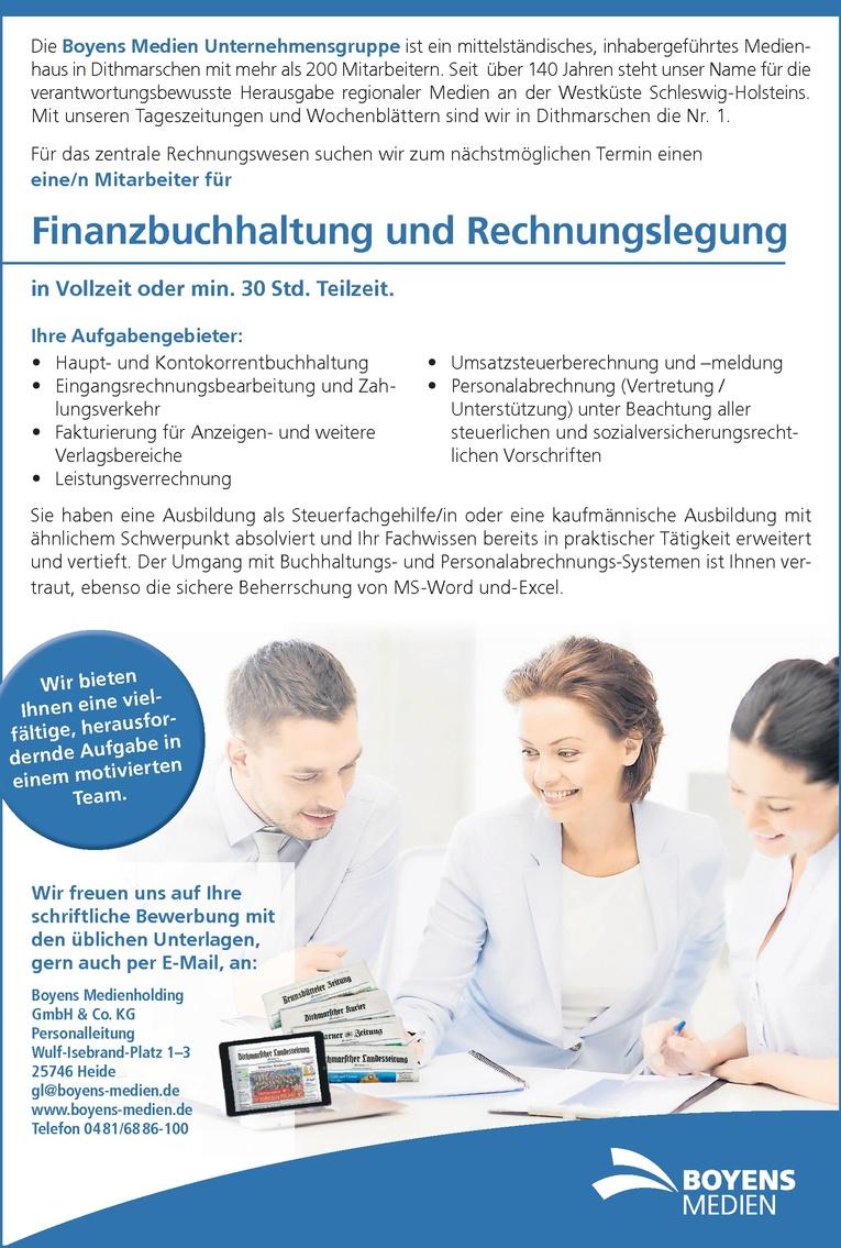 Mitarbeiter für  Finanzbuchhaltung und Rechnungslegung (m/w)