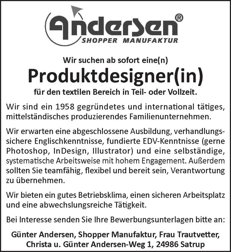 Produktdesigner(in)