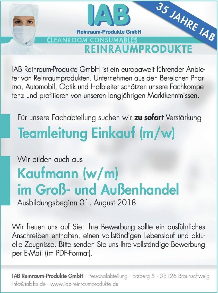 Teamleitung Einkauf (m/w)
