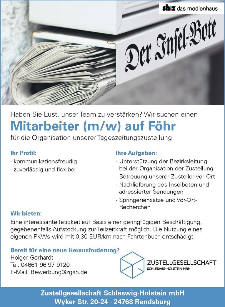 Mitarbeiter (m/w) Organisation Tageszeitungszustellung