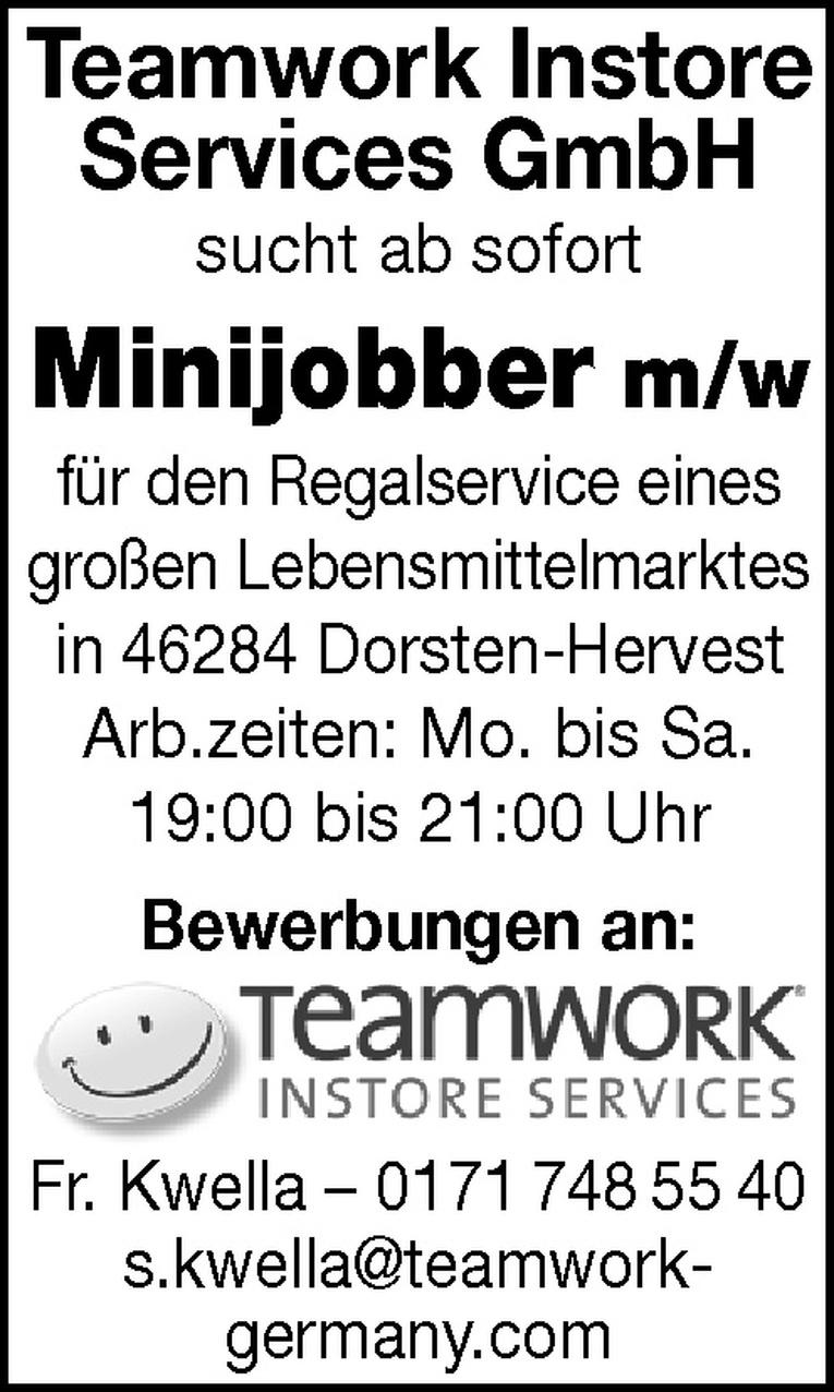 Mitarbeiter (m/w) Regalservice