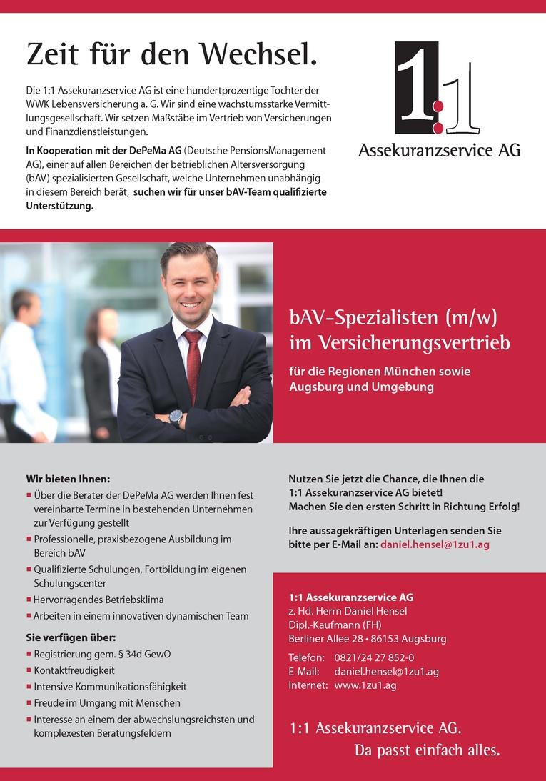bAV-Spezialisten (m/w) im Versicherungsvertrieb